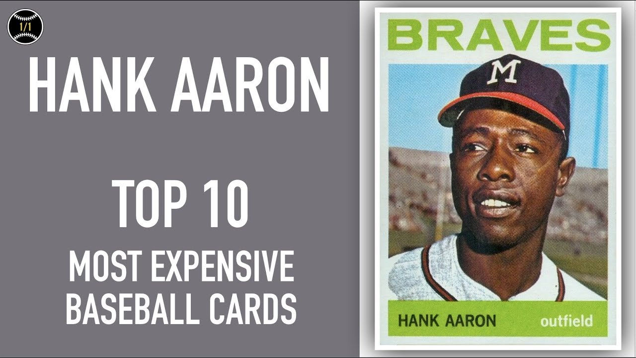 Hank Aaron Top 10 Most Expensive Baseball Cards Sold On Ebay February April 2019