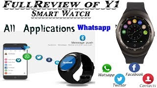 unboxing and review of Captcha Y1 smart watch.|| All Application