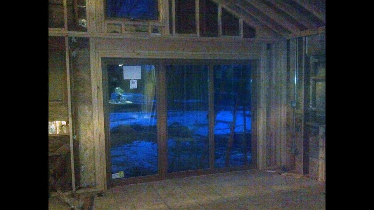 Demo, Framing and Installation of a 10 foot Sliding Glass