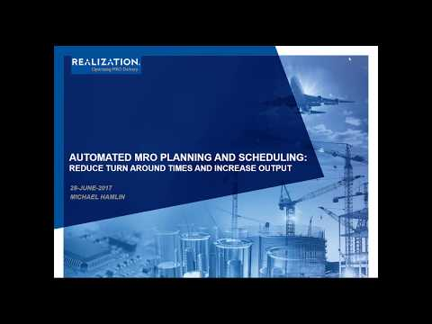AUTOMATED MRO PLANNING AND SCHEDULING WEBINAR