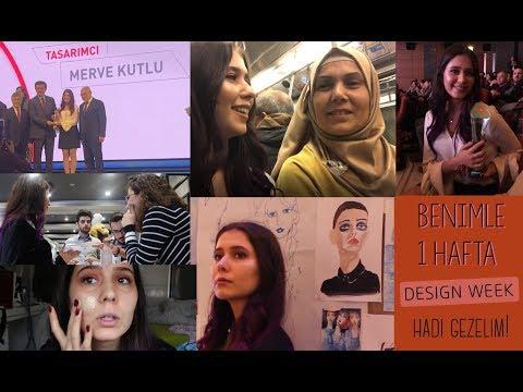 SİZLERE YENİDEN HEDİYE 🎁| ÖDÜL ALDIM!🎖DESIGN WEEK, İSTANBUL'DA BENİMLE 1 HAFTA