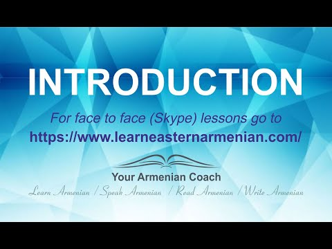Learn Eastern Armenian with Veronica