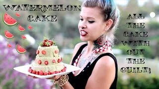 How to make a Watermelon Cake by RawkBaby- Raw Vegan and Three Tier...