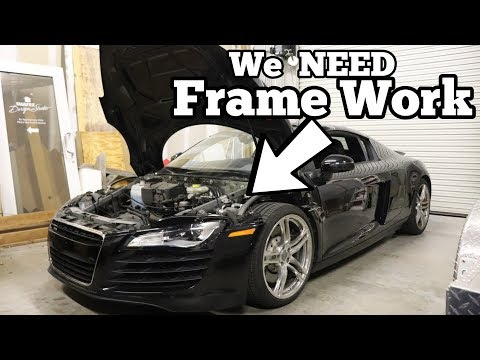Here\'s Why My Cheap Audi R8 was TOTALED! Major Factory Flaw Made my R8 Salvage!
