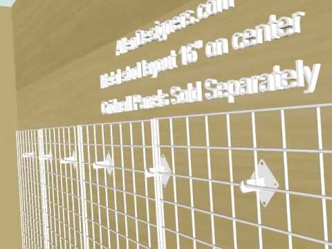 Gridwall Heavy Duty Wall Mounting Brackets Avi Youtube