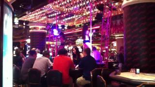 Riviera hotel dancers are found at ever corner of the casino.
