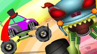 The Magician - Haunted House Monster Truck | Cartoon Videos by Kids Channel