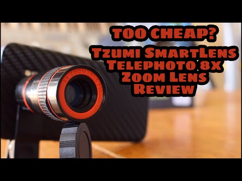 TOO CHEAP? Tzumi SmartLens Telephoto 8x Zoom Lens Review