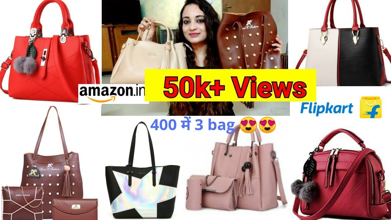 8ccbaa22262e44 Unboxing Flipkart Affordable Handbags, Flipkart high rating handbags,online  shopping and review – Shopping time