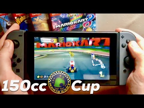 Mario Kart 8 Deluxe REVIEW - HANDHELD GAMEPLAY On Nintendo Switch! 150cc Crossing Cup thumbnail