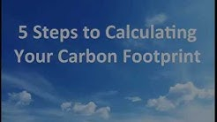 5 Steps to Calculating your Carbon Footprint - free sample