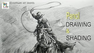 How to Draw and Shade A Horse with Hunter | Step by Step Pencil Art