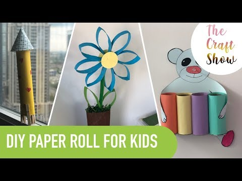 HOW TO USE PAPER TOWEL ROLL TO CRAFT FOR KIDS