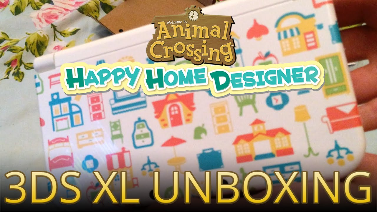 Unboxing The Animal Crossing Happy Home Designer New 3ds Xl System Youtube