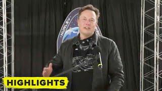 Watch Elon Musk speak after successful SpaceX Crew Dragon mission