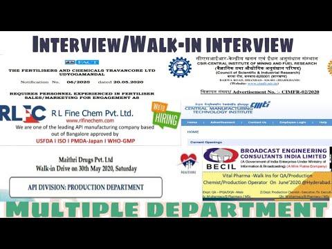 RL FineChem, BECIL, FACT, CSIR, CMTI, Vital Pharma    Recruitment    Fresher&Exp Multiple Department