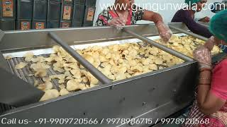 Automatic Potato / Banana Chips Frying Line By GUNGUNWALA