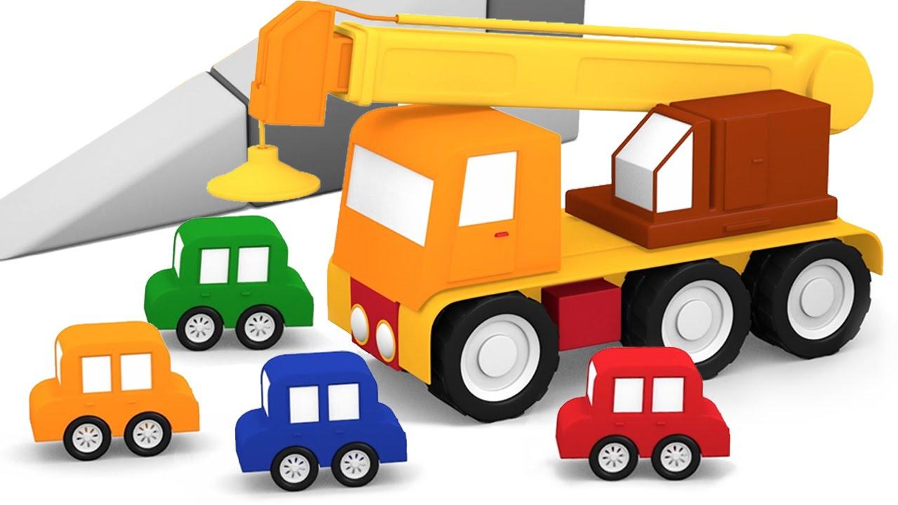 Cartoni animati per bambini macchinine colorate e la gru