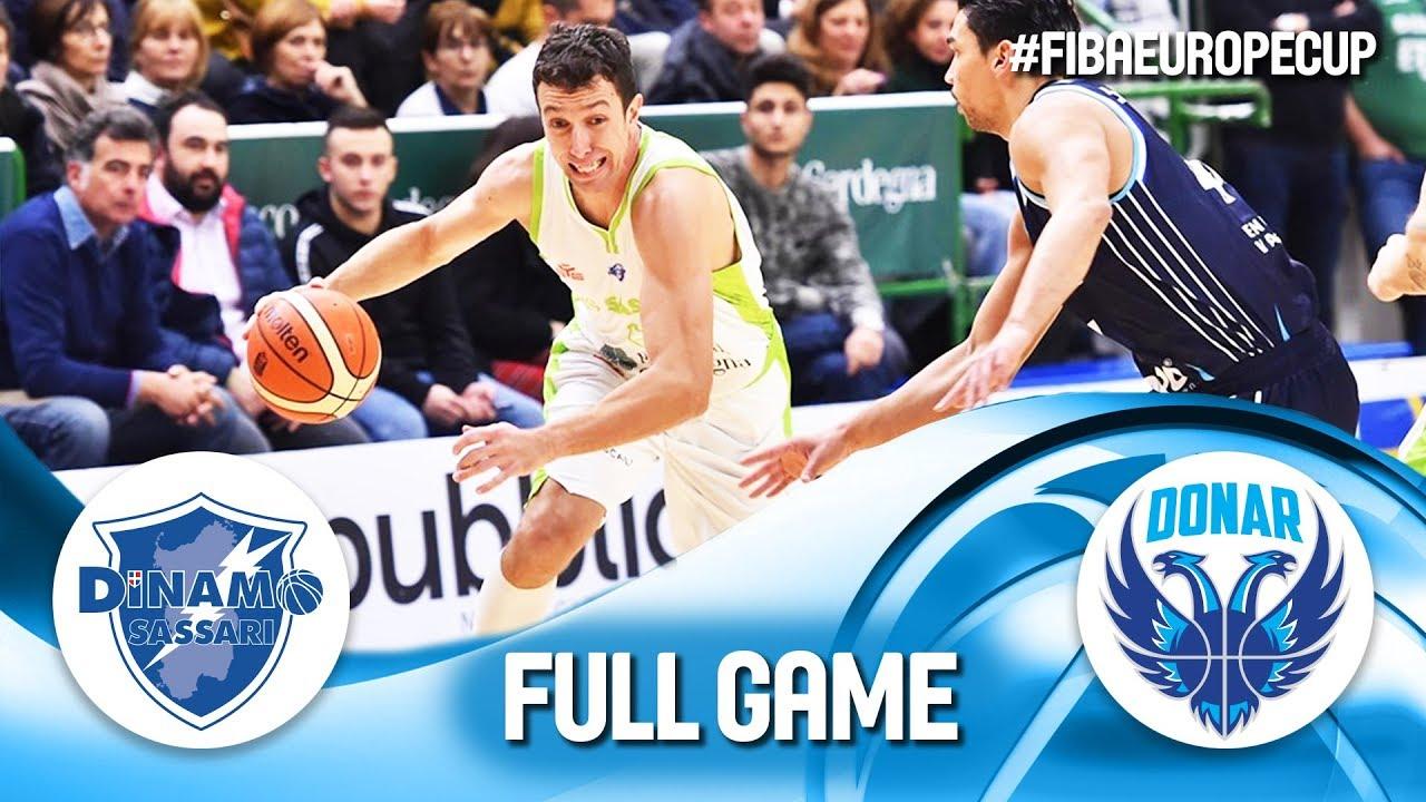 Dinamo Sassari v Donar Groningen - Full Game - FIBA Europe ...