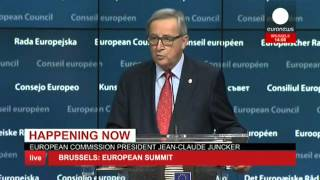 EU Summit: Juncker, Tusk & Luxembourg PM speeches - Live