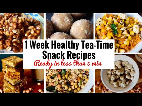 7 Healthy Tea Time Snack Recipes | Quick & Easy | Indian Winter Snack Recipes | Weight Loss | Hindi