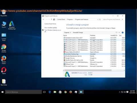 Uninstall Autodesk Desktop App on Windows 10