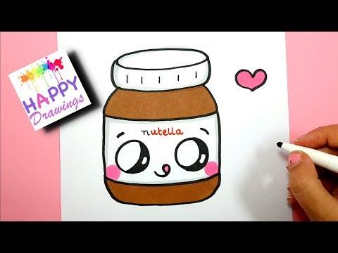 How To Draw Cute Kawaii Nutella Jar step by step - EASY
