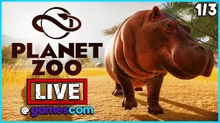 PLANET ZOO - LIVE! Streaming From Gamescom | Planet Zoo Exclusive Gameplay Part 1