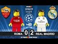Roma vs Real Madrid 0-2 • Champions League 2019 (27/11/2018) • All Goals Highlights Lego Football