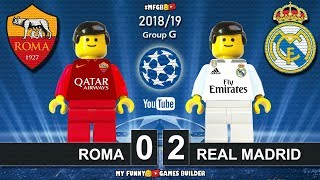 Roma vs Real Madrid 0-2 • Champions League 2019 (27/11/2018) • All Goals Highlights Lego Football