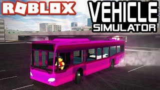 CRAZY BUS DRIFTING in Vehicle Simulator!! - Roblox