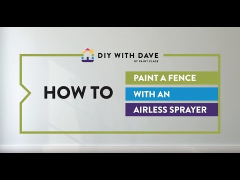 How to Paint a Fence with an Airless Sprayer