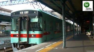 西鉄7000形(7102+71xx)普通 二日市駅出発 2011年秋 Nishitetsu Tenjin Omuta Line