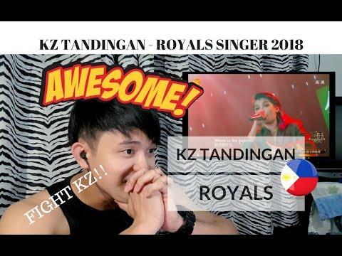 [REACTION] Is this KZ TANDINGAN'S last PERFORMANCE? | KZ sings ROYALS | Singer 2018 | #JANGReacts