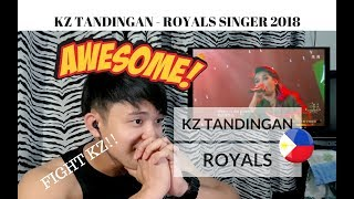 [REACTION] Is this KZ TANDINGAN'S last PERFORMANCE? | KZ sings ROYALS | Singer 2018 | #JANGReacts