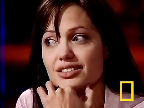 Angelina Jolie cry in the interview for National Geographic