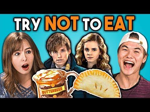 Try Not To Eat Challenge - Harry Potter Food | Teens & College Kids Vs. Food