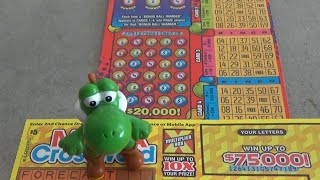 #130 Lottery Scratch Off Tickets From Nevada Arcade Channel & Yoshi