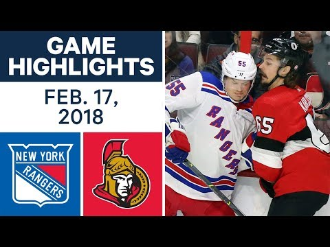 NHL Game Highlights | Rangers vs. Senators - Feb. 17, 2018