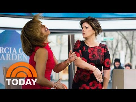 'Fifty Shades Darker' Star Marcia Gay Harden Gives Hoda A Pretend Slap!  TODAY
