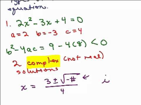 Discriminant in Quadratic Formula - YouTube