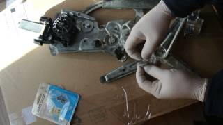 BMW Window Regulator inexpensive repair part 1 of 2