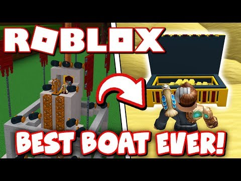 HOW TO BUILD THE BEST BOAT FOR TREASURE!! (Roblox)