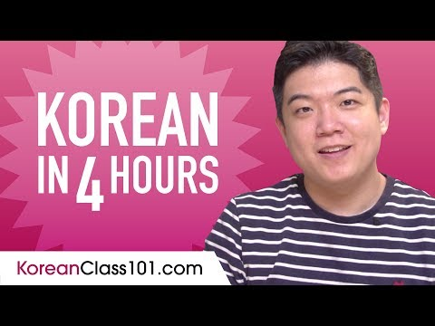 Learn Korean in 4 Hours - ALL the Korean Basics You Need
