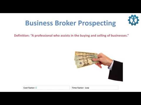 Business Broker Prospecting (Business Development)