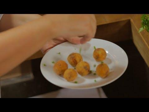 Bolinho de bacalhau: Brazilian fried codfish dumplings are a perfect finger food
