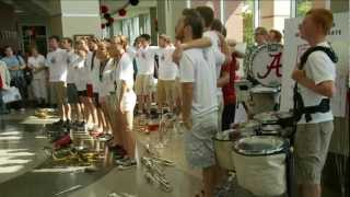 Million Dollar Band sings Alma Mater and plays Yea Alabama