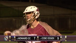 howard cc vs ccbc essex 2016 juco lacrosse