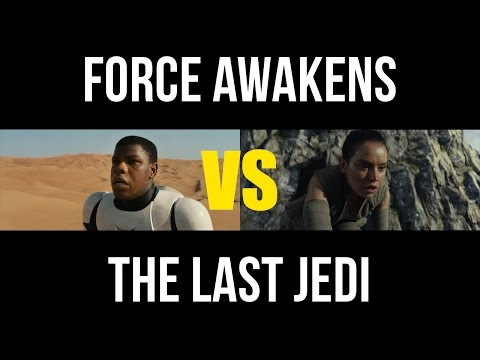 Thumbnail: Star Wars: The Last Jedi Teaser Side-by-Side w/ Force Awakens Trailer Shots