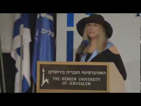 Barbra Streisand Receives Honorary Ph.D. from The Hebrew University of Jerusalem